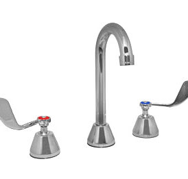 Widespread Faucet, 4″ Wrist Blade Handles